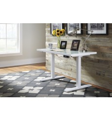 Ashley - Baraga H410 Adjustable Height Desk - White (H410-19)