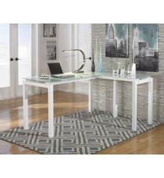 Ashley - Baraga H410 L-Desk - White (H410-24)