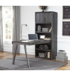 Ashley - Raventown H467 Bookcase Desk Return - Grayish Brown (H467-14)