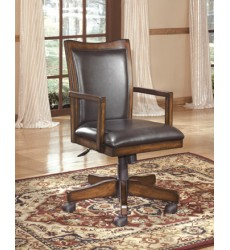 Ashley - Hamlyn H527 Home Office Swivel Desk Chair - Medium Brown (H527-01A)