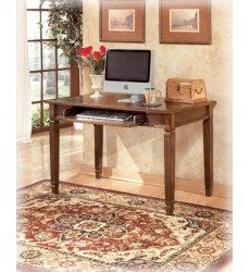 Ashley - Hamlyn H527 Home Office Small Leg Desk - Medium Brown (H527-10)