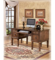 Ashley - Hamlyn H527 Home Office Storage Leg Desk - Medium Brown (H527-26)