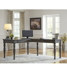 Ashley - Devenstead H624 Home Office Desk Return - Dark Gray (H624-34R)