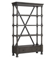 Ashley - Devenstead H624 Bookcase - Dark Gray (H624-70)