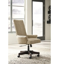 Ashley - Baldridge H675 UPH Swivel Desk Chair - Rustic Brown (H675-01A)