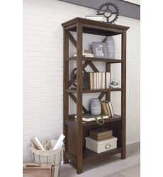 Ashley - Baldridge H675 Large Bookcase - Rustic Brown (H675-17)