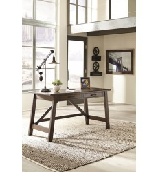 Ashley - Baldridge H675 Home Office Large Leg Desk - Rustic Brown (H675-44)