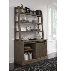 Ashley - Luxenford H741 Home Office Desk Hutch - Grayish Brown (H741-49)