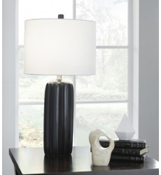 Ashley - Adorlee Ceramic Table Lamp (2/CN) - Black ( L177934 )