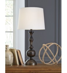 Ashley - Aadi Metal Table Lamp (2/CN) - Antique Brass Finish ( L204044 )