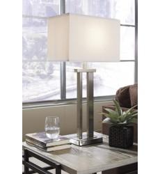 Ashley - Aniela L204054 Metal Table Lamp (2/CN) - Silver Finish (L204054)