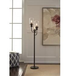 Ashley - Jaak Metal Floor Lamp (1/CN) - Bronze Finish ( L207171 )