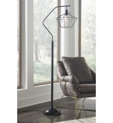 Ashley - Makeika Metal Floor Lamp (1/CN) - Black ( L207181 )