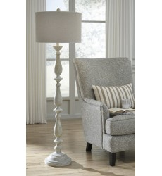 Ashley - Bernadate Poly Floor Lamp (1/CN) - Whitewash ( L235341 )