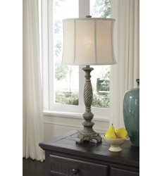 Ashley - Alinae Poly Table Lamp (1/CN) - Antique Gray ( L235484 )