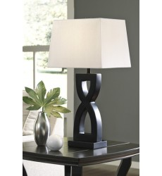 Ashley - Amasai Poly Table Lamp (2/CN) - Black ( L243144 )