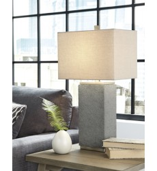 Ashley - Amergin L243174 Poly Table Lamp (2/CN) - Gray (L243174)