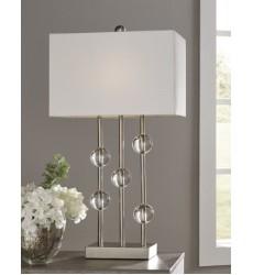 Ashley - Jaala Metal Lamp (1/CN) - Clear/Silver Finish ( L428064 )
