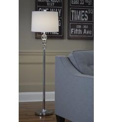 Ashley - Joaquin Crystal Floor Lamp (1/CN) - Clear/Chrome Finish ( L428081 )