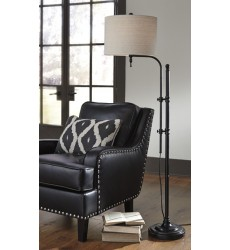Ashley - Anemoon Metal Floor Lamp (1/CN) - Black ( L734251 )
