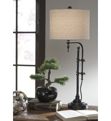 Ashley - Anemoon L734252 Metal Table Lamp (1/CN) - Black (L734252)