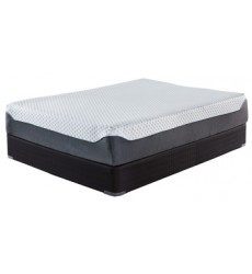 Ashley - 12 Inch Chime Elite M674 King Mattress - White/Blue (M67441)