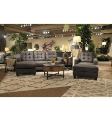 Ashley - Venaldi  91501 Sofa Chaise Queen Sleeper - Gunmetal(9150168)