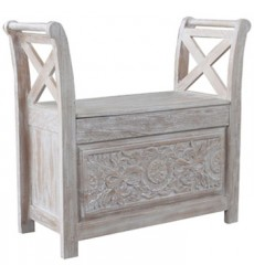 Ashley - Fossil Ridge Accent Bench - White Wash ( A4000001 )
