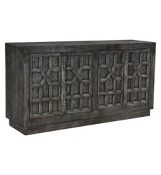 Ashley - Roseworth  A4000309 Accent Cabinet - Distressed Black(A4000309)