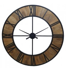 Ashley - Byram A8010178 Wall Clock - Natural/Black (A8010178)
