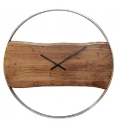 Ashley - Panchali  A8010198 Wall Clock - Brown/Silver Finish(A8010198)