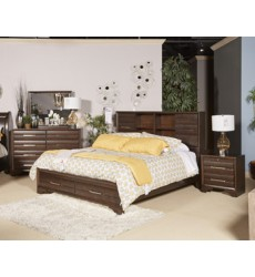 Ashley - Andriel Two Drawer Night Stand - Dark Brown ( B609-92 )