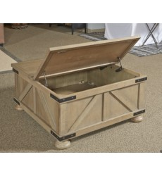 Ashley - Aldwin Cocktail Table with Storage - Gray ( T457-20 )