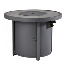 Ashley - Donnalee Bay P325 Round Fire Pit Table - Dark Gray (P325-776)