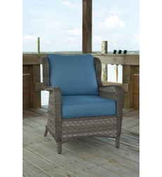 Ashley - Abbots Court P360 Lounge Chair w/Cushion (2/CN) - Blue/Gray (P360-820)