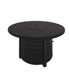 Ashley - Castle Island P414 Round Fire Pit Table - Dark Brown (P414-776)