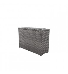 Ashley - Spring Dew Console With Drink Holders - Gray ( P453-853 )