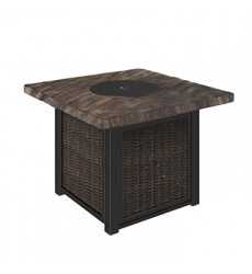 Ashley - Alta Grande Square Fire Pit Table - Beige/Brown ( P782-772 )