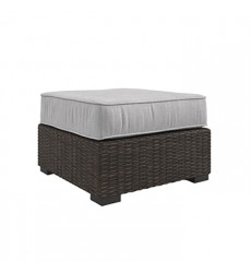 Ashley - Alta Grande P782 Ottoman with Cushion - Beige/Brown (P782-814)