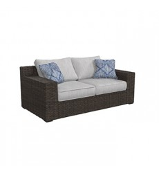 Ashley - Alta Grande P782 Loveseat w/Cushion - Beige/Brown (P782-835)