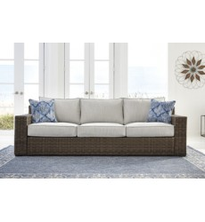 Ashley - Alta Grande P782 Sofa with Cushion - Beige/Brown (P782-838)