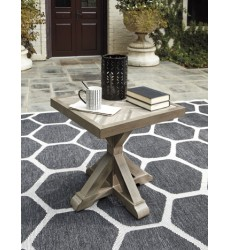 Ashley - Beachcroft P791 Square End Table - Beige (P791-702)