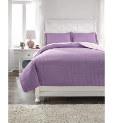 Ashley - Dansby Q22502 Full Coverlet Set - Lavender/Pink (Q225023F)
