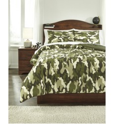Ashley - Dagon Full Comforter Set - Khaki/Tan/Green ( Q234003F )