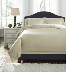 Ashley - Chamness Q24901 Queen Duvet Cover Set - Sand (Q249013Q)