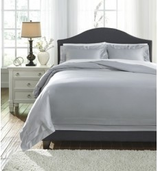 Ashley - Chamness Q24902 Queen Duvet Cover Set - Gray (Q249023Q)