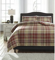 Ashley - Danail Q27800 King Duvet Cover Set - Red/Gold/Green (Q278003K)