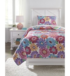Ashley - Alexei Q34500 Twin Quilt Set - Multi (Q345001T)