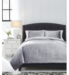 Ashley - Maryam Q35000 King Coverlet Set - Gray (Q350003K)