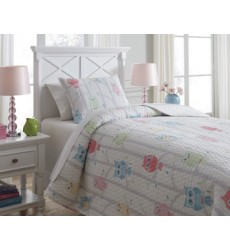 Ashley - Lucille Q38400 Twin Coverlet Set - Multi (Q384001T)